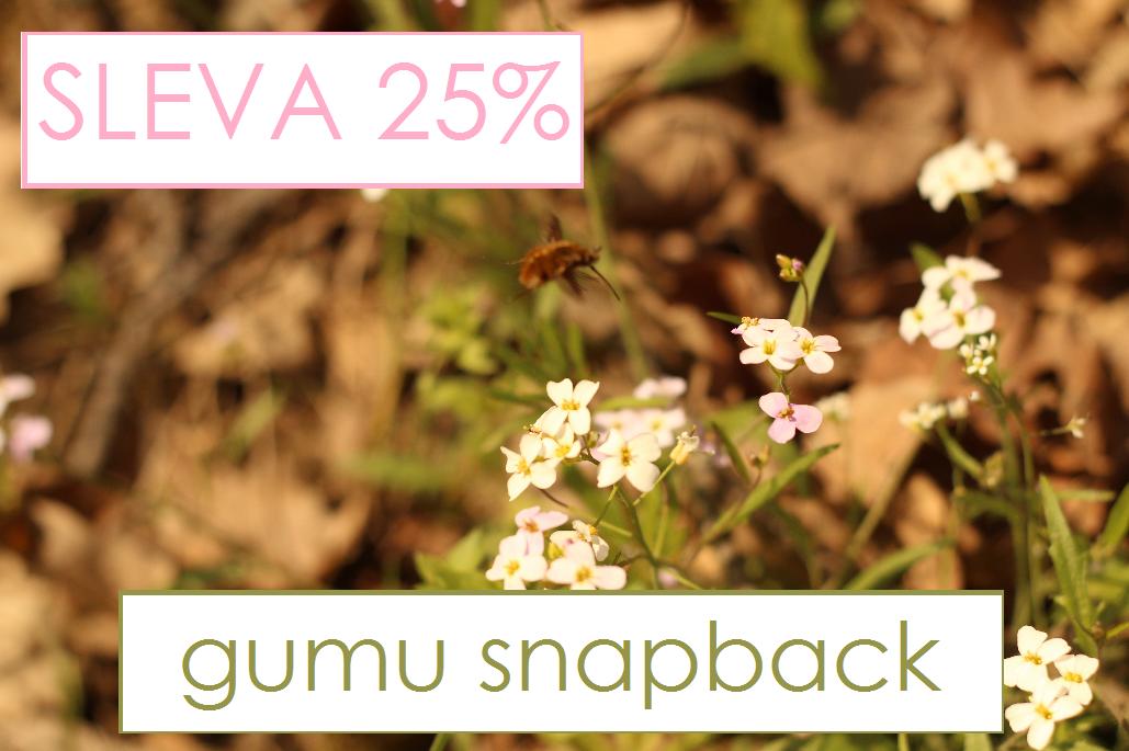 APRÍLOVÁ SOBOTA a 25% sleva na GUMU snapback :)